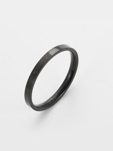 black Titanium Round Minimalist Band Ring