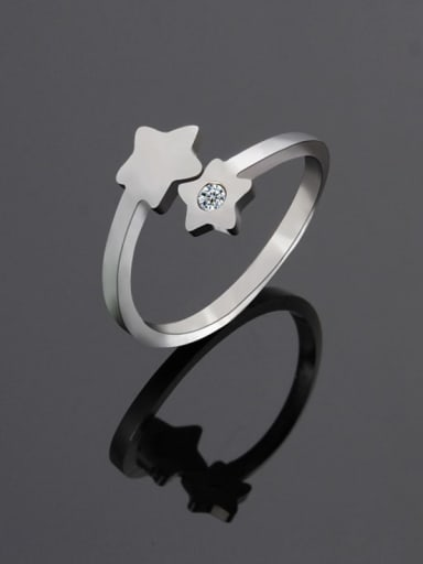 Titanium Star Minimalist Band Ring
