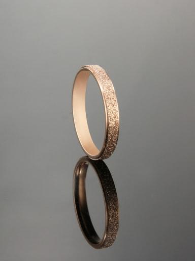 Titanium Steel yarn  Round Minimalist Ring