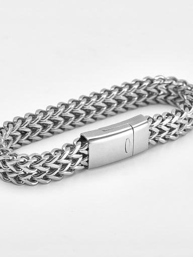 19cm steel color Titanium Minimalist Link Bracelet