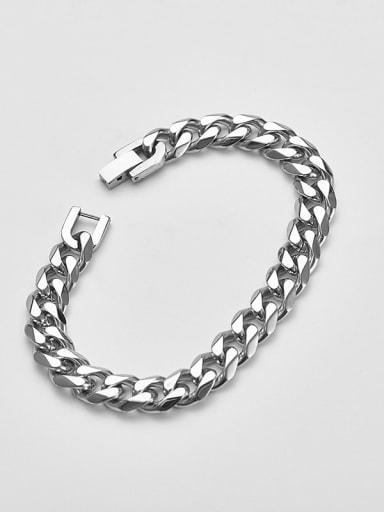 Steel color 21cm Titanium  Minimalist Link Bracelet