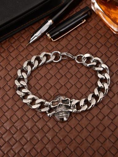 Titanium Skull Vintage Bracelet