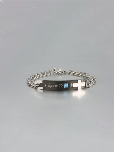 4 Titanium Smooth Minimalist Link Bracelet