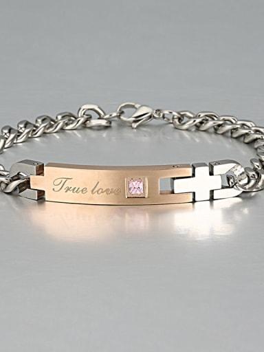 5 Titanium Smooth Minimalist Link Bracelet