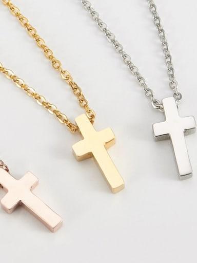 Titanium Mimaalist Cross   Pendant  Initials Necklace