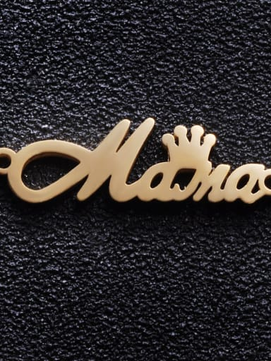 golden Stainless steel Crown Charm Height : 26 mm , Width: 7.5 mm