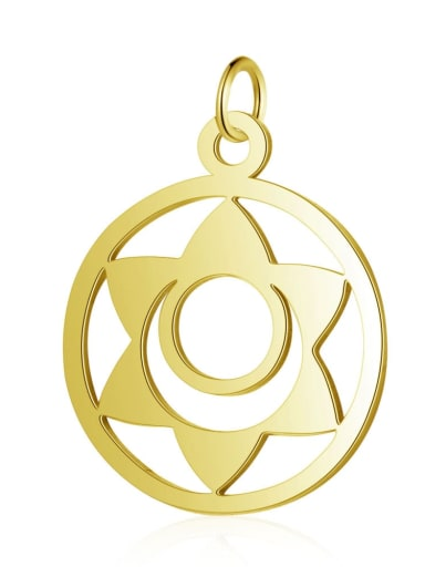 T525G Stainless steel Gold Plated Geometric Charm Height : 19 mm , Width: 26 mm