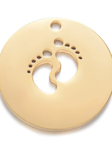 golden Stainless steel Round 22mm Charm