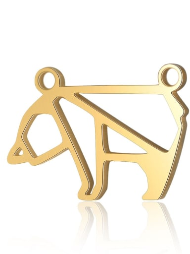 X T576D 2 Stainless steel Bear Charm Height : 21 mm , Width: 11 mm
