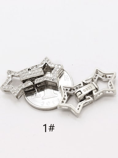 925 Sterling Silver Star Fold Over Clasp
