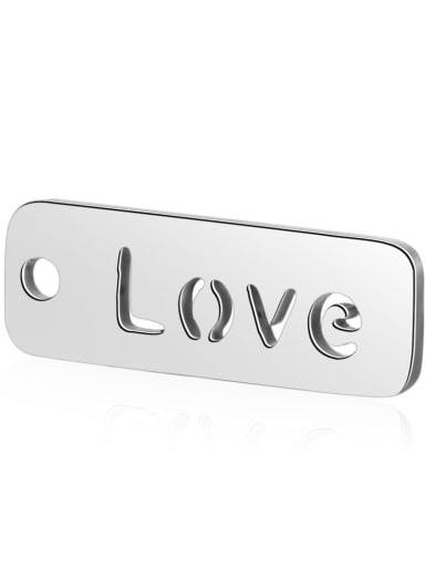 Stainless steel Message Charm Height : 17 mm , Width: 6 mm