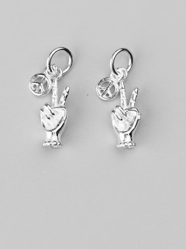 925 Sterling Silver finger Charm Height : 17 mm , Width: 6.5 mm