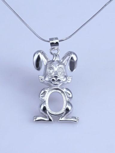 Rabbit (8*10) 925 Sterling Silver Zodiac Pendant Setting Stone size: 8*10 9*11 10*14mm