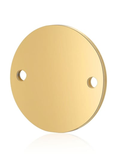 gold Stainless steel Round 10*10mm 12*12mm 16*16mm Charm