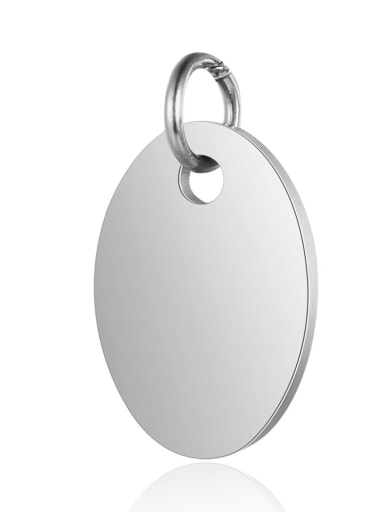 XT627 1 Stainless steel Round Charm Height : 9.5 mm , Width: 17 mm