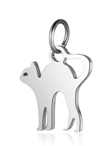 T465S Stainless steel Cat Charm Height : 12 mm , Width: 16 mm