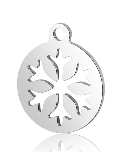 Stainless steel Round Flower Charm Height : 14 mm , Width: 12 mm