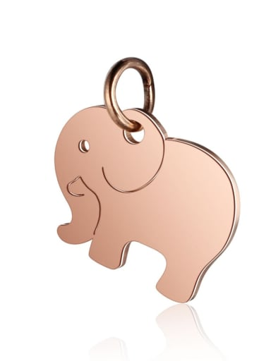 T463R Stainless steel Elephant Charm Height : 14 mm , Width: 16 mm