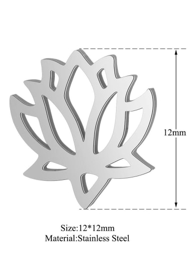 XT541S Stainless steel Gold Plated Flower Charm Height : 12 mm , Width: 12 mm
