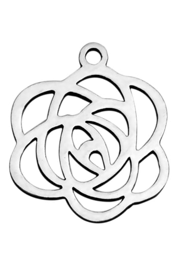Stainless steel Rosary Charm Height : 15.7 mm , Width: 18.2 mm