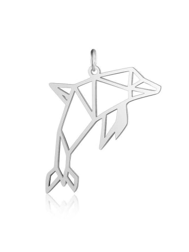 JA118 1x5 Stainless steel Dolphin gold platedCharm Height : 38 mm , Width: 22 mm