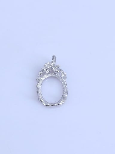 925 Sterling Silver Rhodium Plated Water Drop Pendant Setting Stone size: 10*14mm