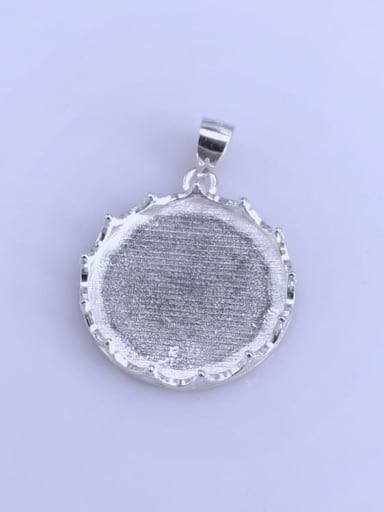 925 Sterling Silver Rhodium Plated Crown Pendant Setting Stone size: 20*20mm