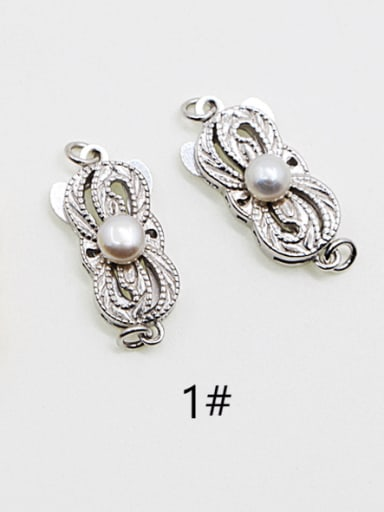 925 Sterling Silver Pearl Clasp