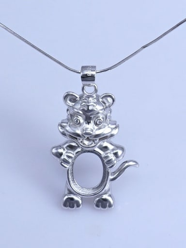 Tiger (9*11) 925 Sterling Silver Zodiac Pendant Setting Stone size: 8*10 9*11 10*14mm