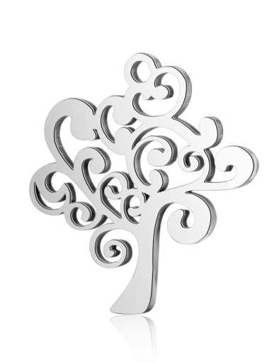 Stainless steel Tree Charm Height : 18 mm , Width: 20 mm