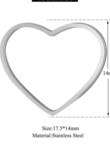17.5 1 17.514mm Stainless steel Heart Charm