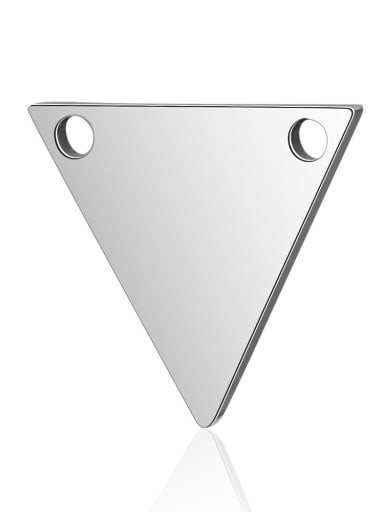 Stainless steel Triangle Charm Height : 11 mm , Width: 12 mm