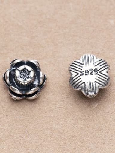 925 Sterling Silver Flower Charm Height : 8 mm , Width: 8 mm