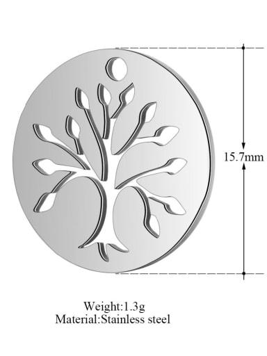 XT185 Stainless steel Tree Charm Diameter : 15.7mm