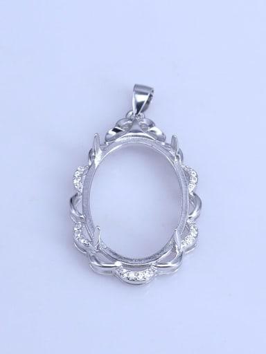 925 Sterling Silver Geometric Pendant Setting Stone size: 18*25mm