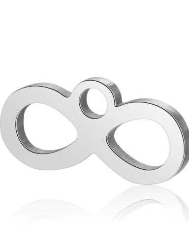 Stainless steel Charm Height : 12 mm , Width: 6 mm