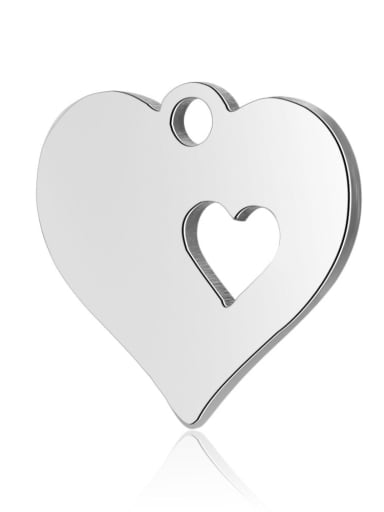 Stainless steel Heart Charm Height : 12.5 mm , Width: 12.5 mm