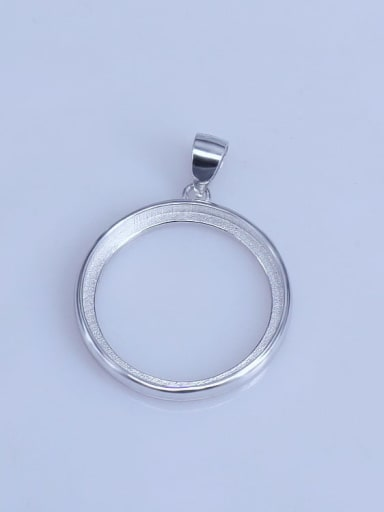 925 Sterling Silver Round Pendant Setting Stone size: 12*12 14*14 15*15 16*16 18*18 20*20mm