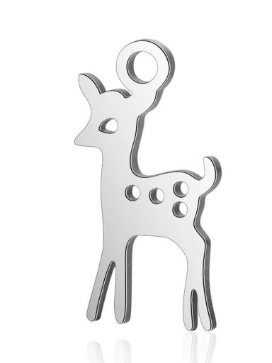 Stainless steel Deer Charm Height : 8mm , Width: 15.5 mm