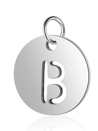 Stainless steel Letter 12mm Charm