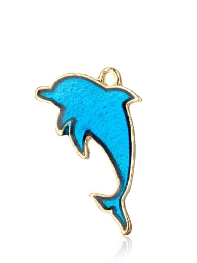 Alloy Dolphin Charm Height : 21 mm , Width: 14 mm