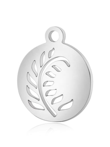 Stainless steel Tree Charm Height : 11.8*14.2mm