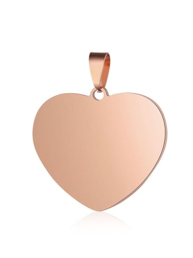 25*31mm Stainless steel Heart Charm