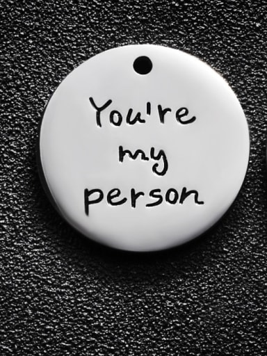 Stainless steel Message Charm Diameter : 25 mm