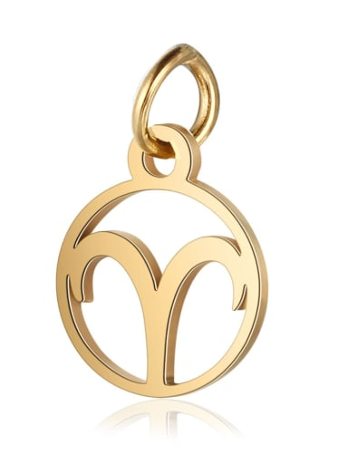 T513 1 Stainless steel Gold Plated Constellation Charm Height : 11 mm , Width: 16 mm
