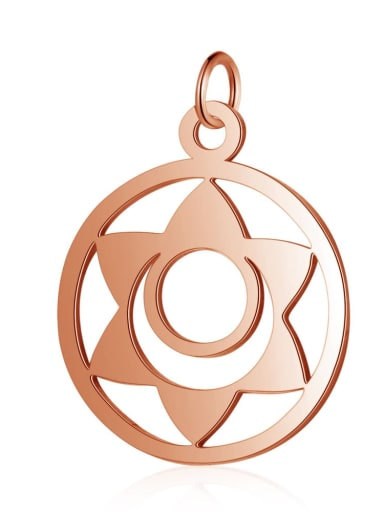 T525R Stainless steel Gold Plated Geometric Charm Height : 19 mm , Width: 26 mm