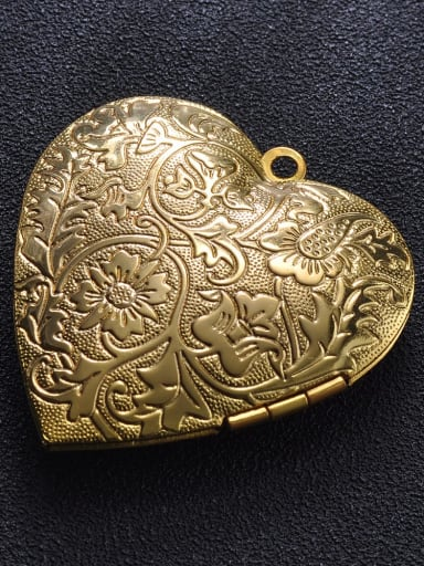 golden Copper Heart Charm Height : 39.8mm , Width: 42.3 mm
