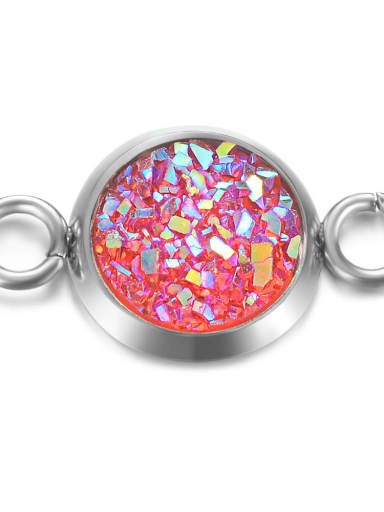 3 Multicolor Resin Round Charm Diameter : 8mm