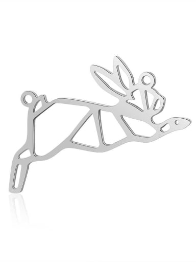 JA112 1x5 Stainless steel rabbit Charm Height : 35 mm , Width: 16mm
