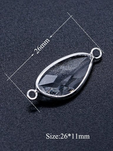 JA173 1x3 Millefiori Glass Charm Height : 26 mm , Width: 11 mm